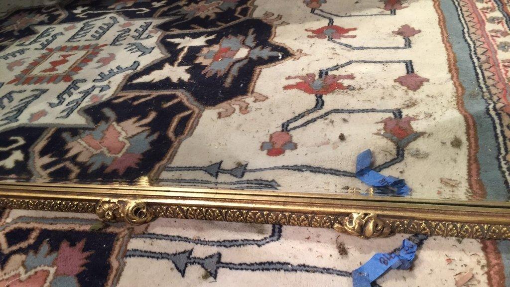 Ornate Victorian Carved Gold Leaf Mirror - 7