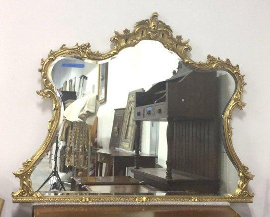 Ornate Victorian Carved Gold Leaf Mirror - 8