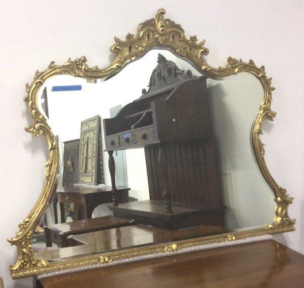 Ornate Victorian Carved Gold Leaf Mirror - 9