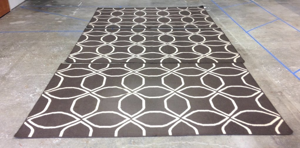 3 Espresso Ivory Patterned West Elm Rugs