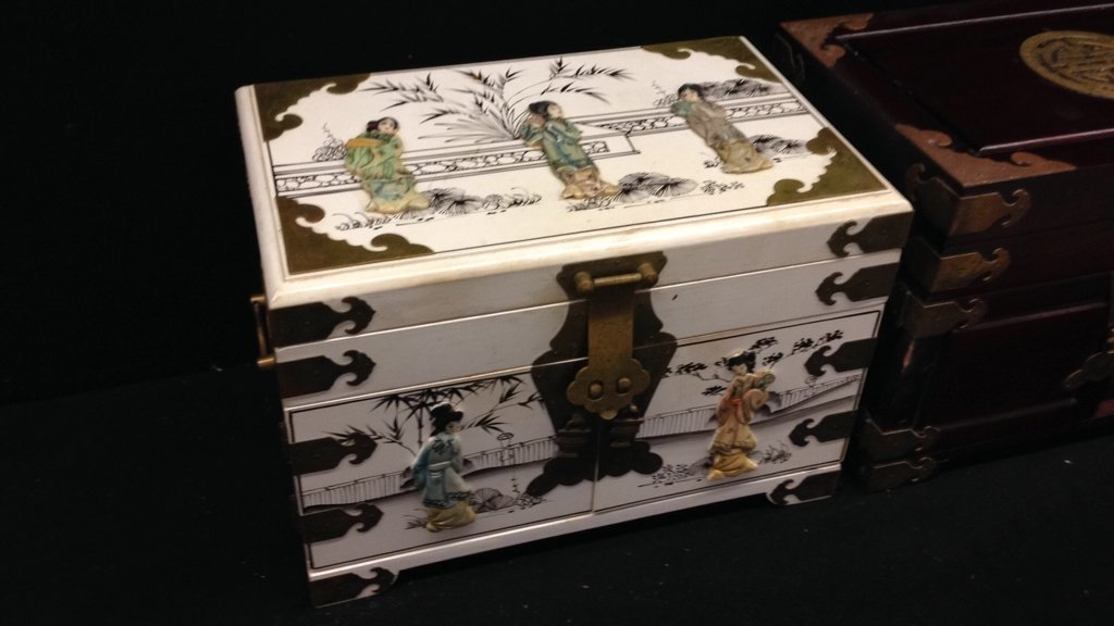 Two Vintage Asian Jewelry Boxes - 2