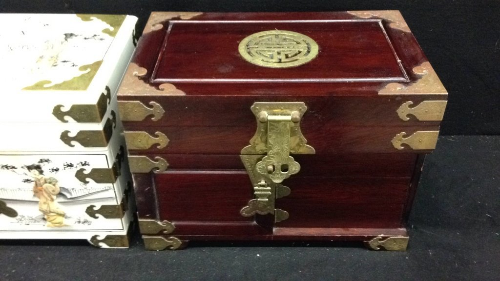 Two Vintage Asian Jewelry Boxes - 4