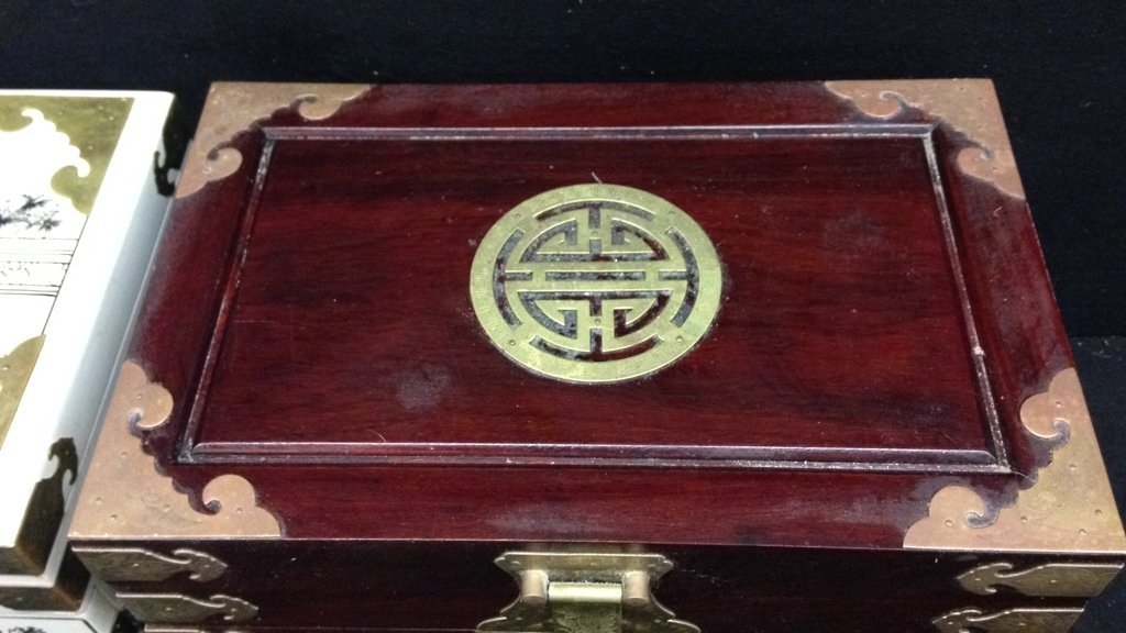 Two Vintage Asian Jewelry Boxes - 5