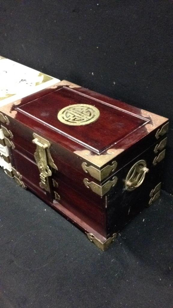 Two Vintage Asian Jewelry Boxes - 6