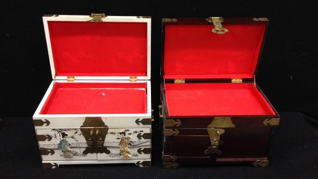 Two Vintage Asian Jewelry Boxes - 8