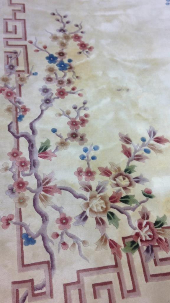 Asian Handmade Blossom Rug - 2