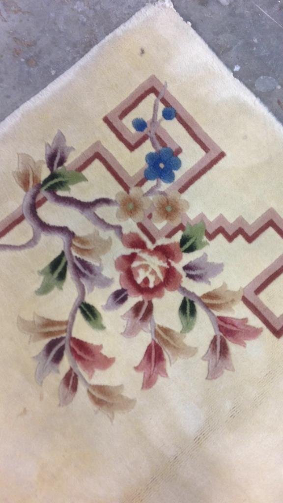 Asian Handmade Blossom Rug - 5