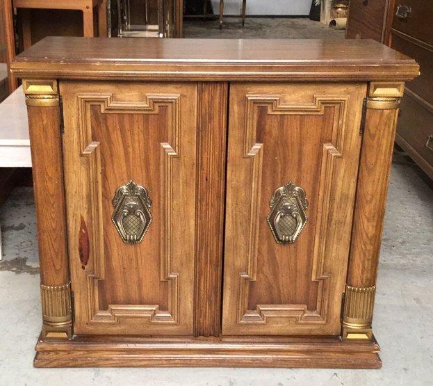 Vintage Two Door Wood Cabinet