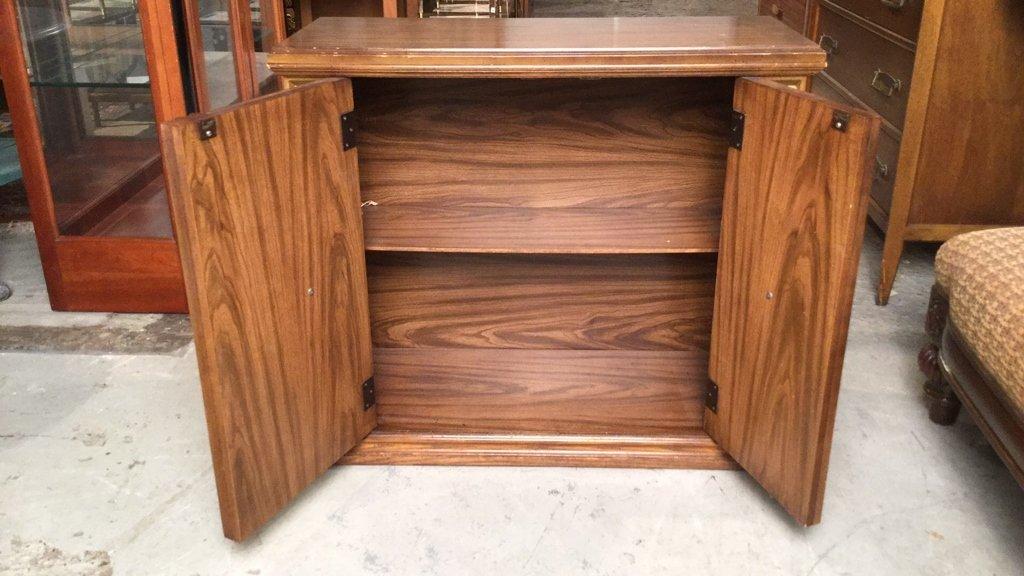 Vintage Two Door Wood Cabinet - 2