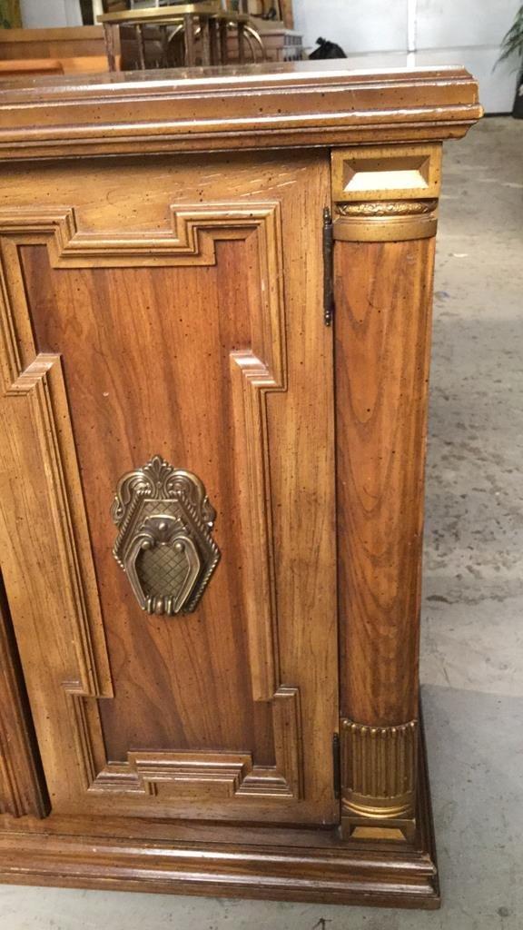 Vintage Two Door Wood Cabinet - 4