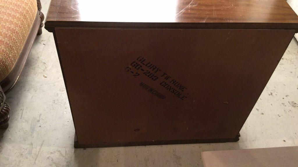 Vintage Two Door Wood Cabinet - 6