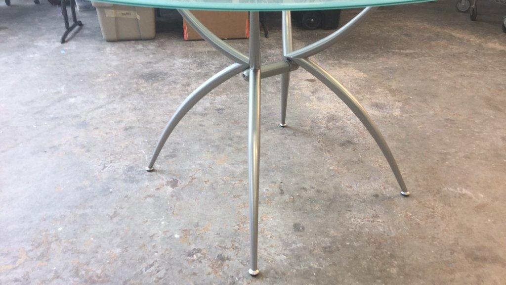 Imported Italian Table Pedestal Custom Glass Top - 10