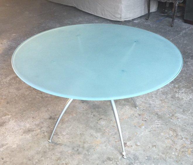 Imported Italian Table Pedestal Custom Glass Top