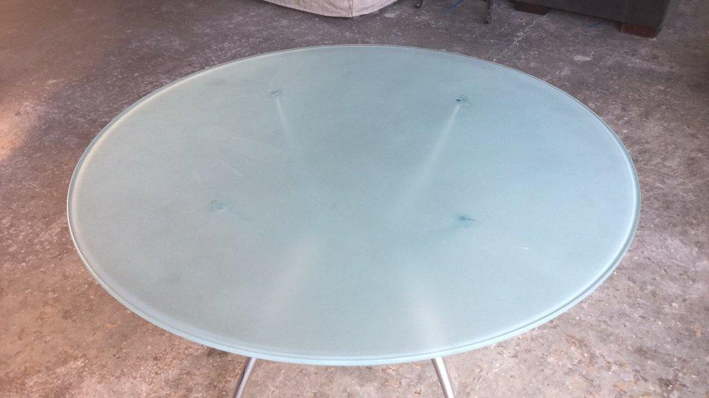 Imported Italian Table Pedestal Custom Glass Top - 2