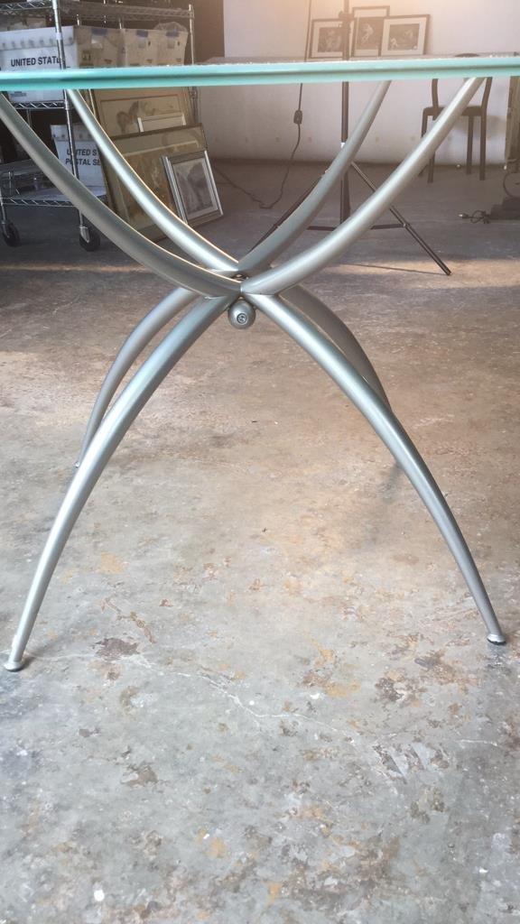 Imported Italian Table Pedestal Custom Glass Top - 6
