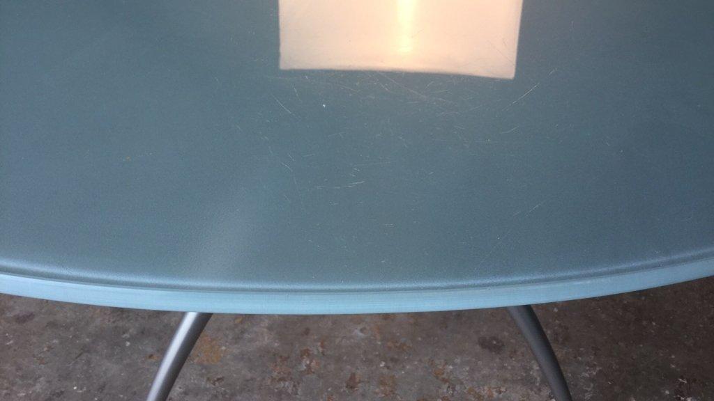 Imported Italian Table Pedestal Custom Glass Top - 7