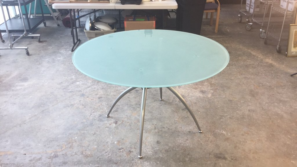 Imported Italian Table Pedestal Custom Glass Top - 9