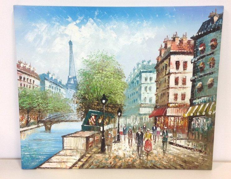J. BARDOT Signed Painting