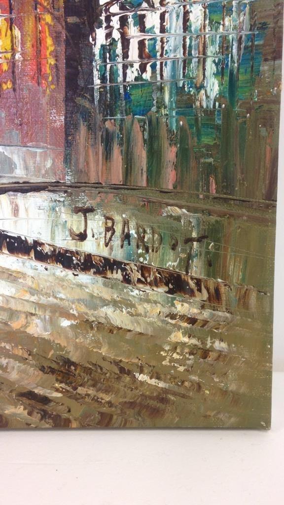 J. BARDOT Signed Painting - 2
