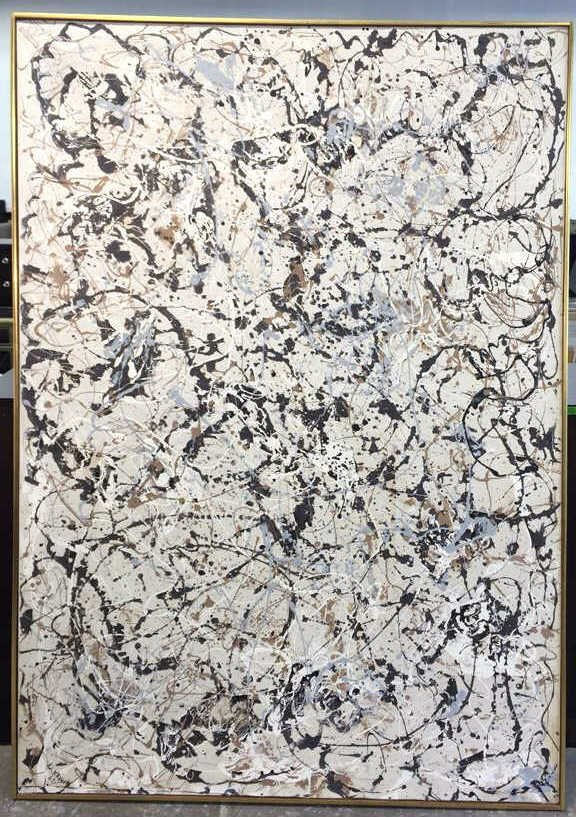 Signed DAVID KRIBIN Abstract Oil Painting