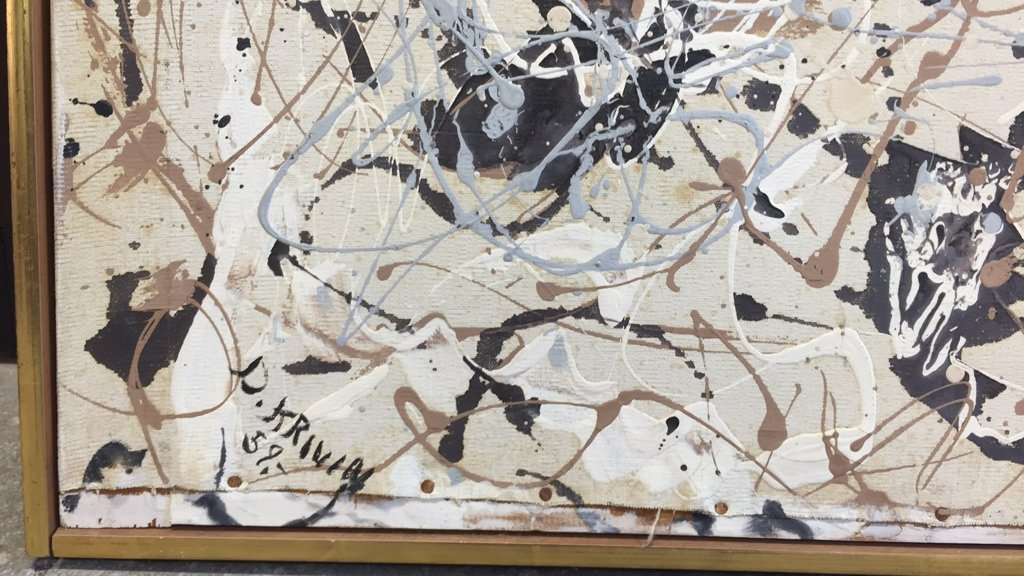 Signed DAVID KRIBIN Abstract Oil Painting - 4