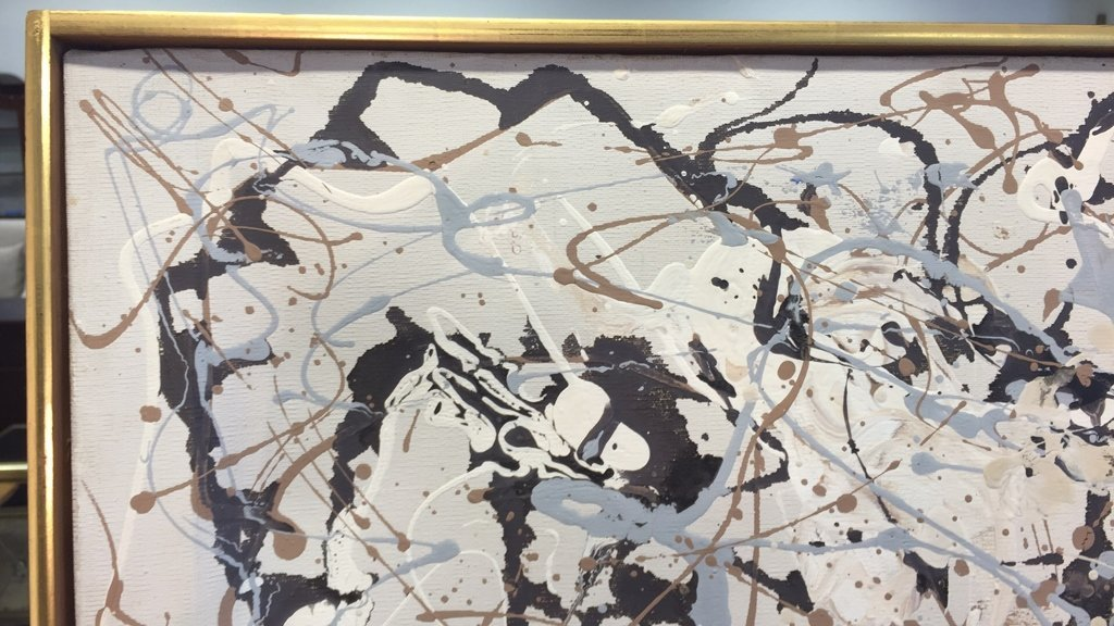 Signed DAVID KRIBIN Abstract Oil Painting - 6