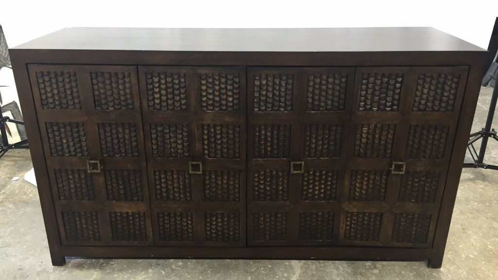Carved Console Cabinet