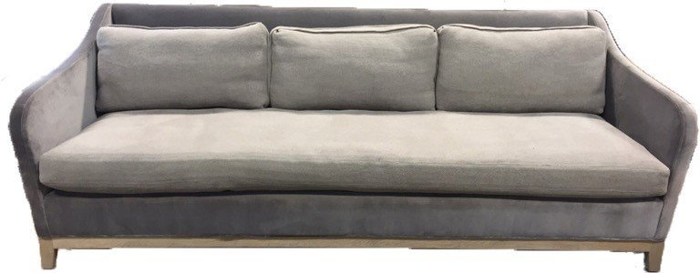 VERELLEN Belgium Pewter Mixed Fabric Sofa