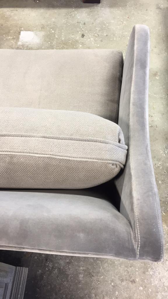 VERELLEN Belgium Pewter Mixed Fabric Sofa - 4