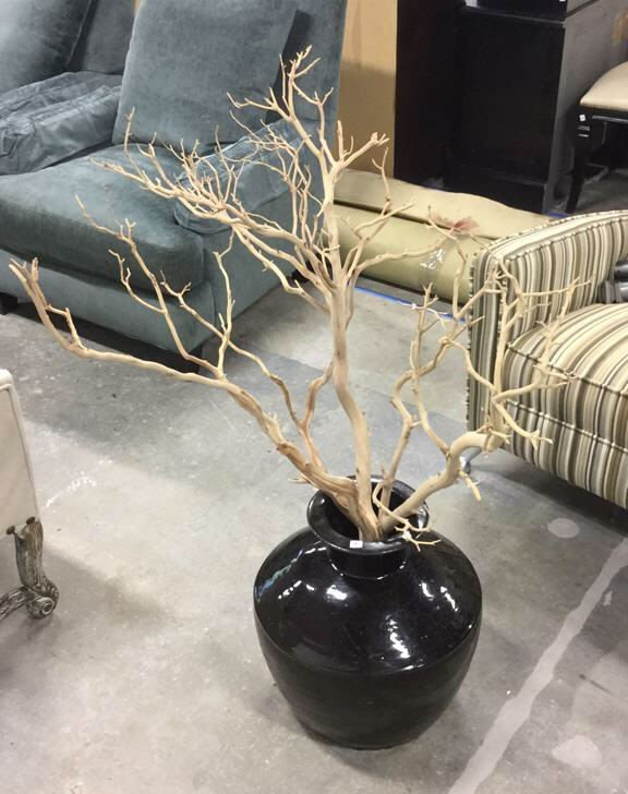 Planter With Dried Tree Branches