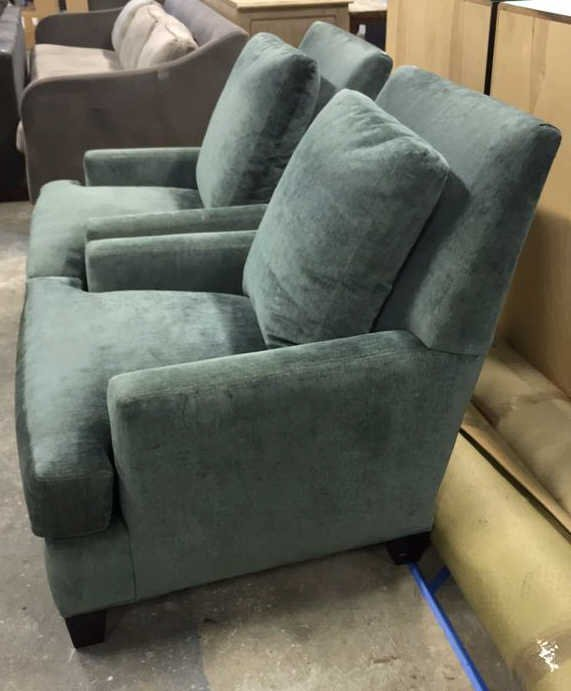 Pair LEE Custom Upholstered Arm Chairs - 3
