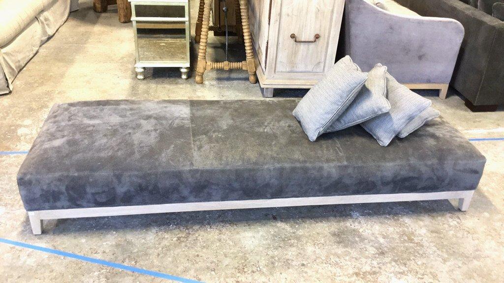 Grey Triple Ottoman Furniture
