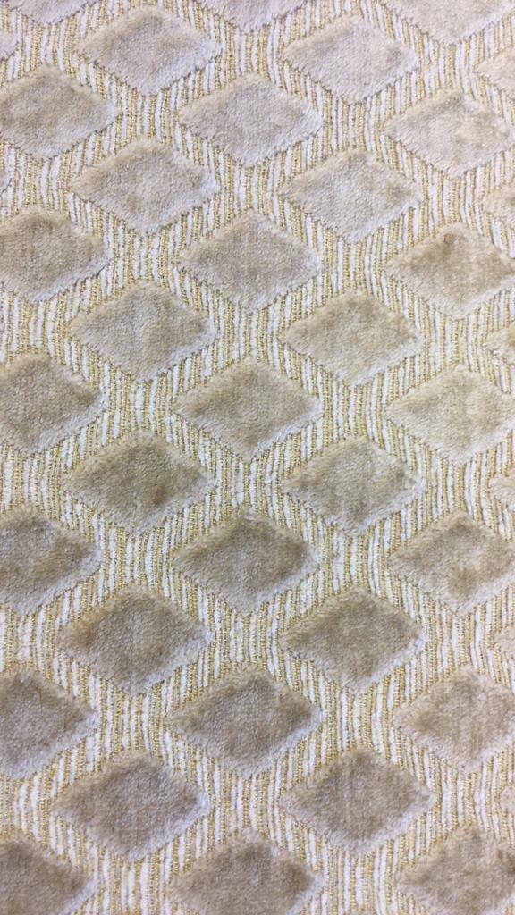 Sand Colored Diamond Pattern Ottoman - 9