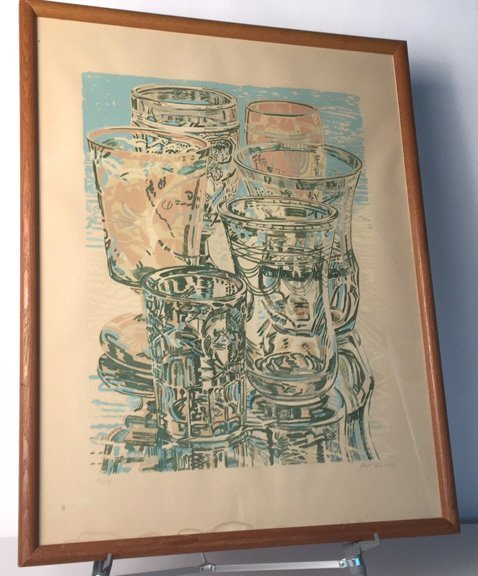 Vintage Signed Janet Fish dated  1975 111/144