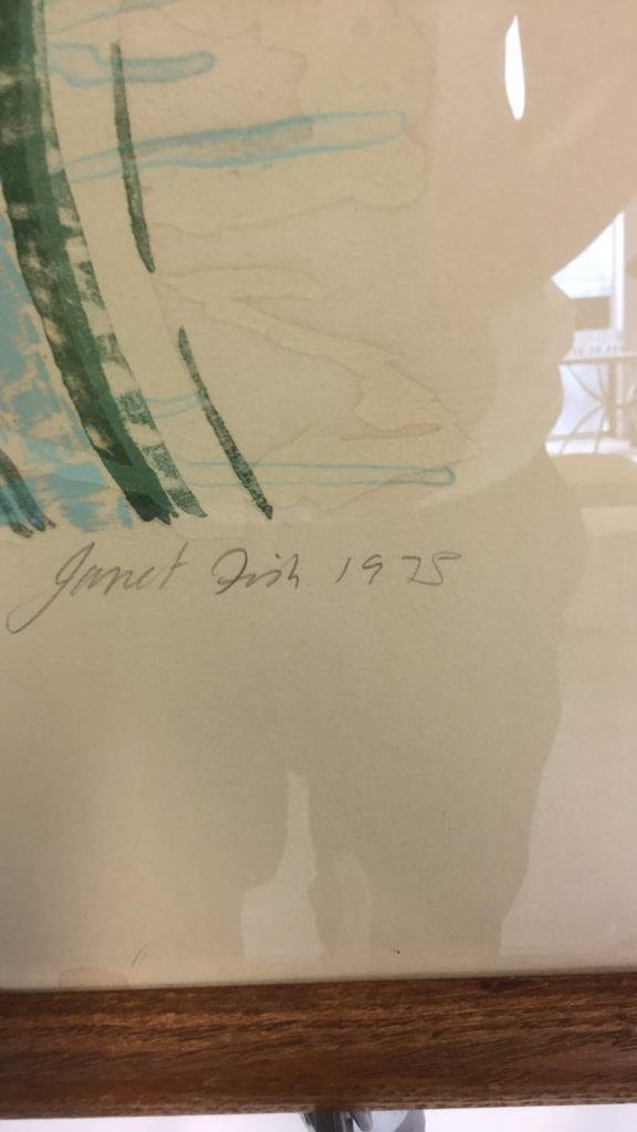 Vintage Signed Janet Fish dated  1975 111/144 - 4