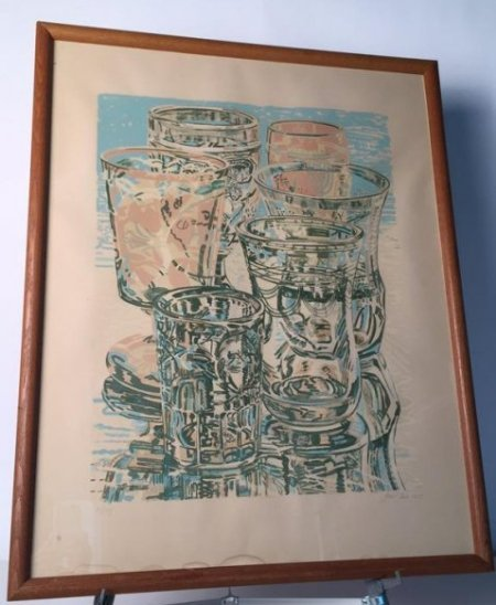 Vintage Signed Janet Fish dated  1975 111/144 - 7