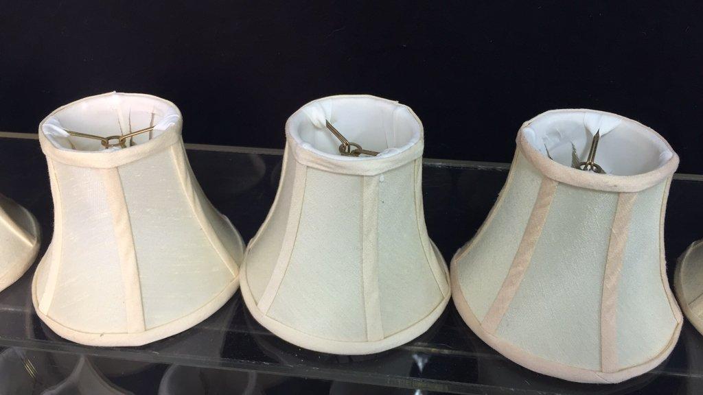 15 Natural Silk Candlestick Lamp Shades - 4