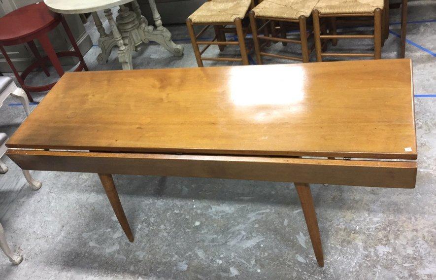 Mid Century Modern Side Drop Leaf Table