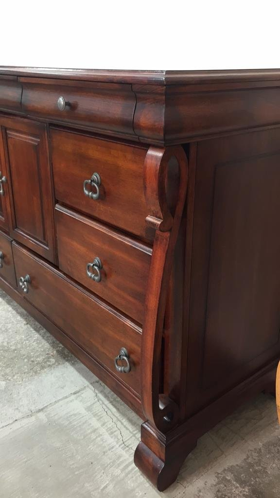 Country French Console Cabinet with Rustic Handles - 2