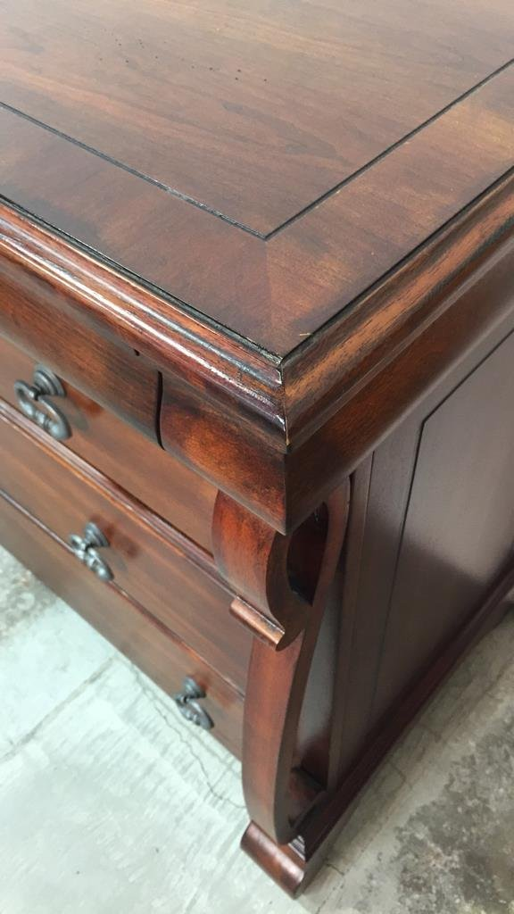 Country French Console Cabinet with Rustic Handles - 6