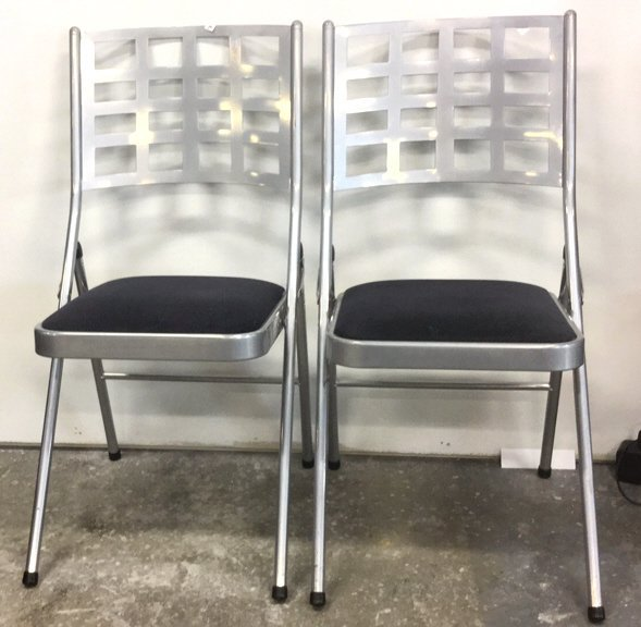 Pair Modern Fold Out Chairs