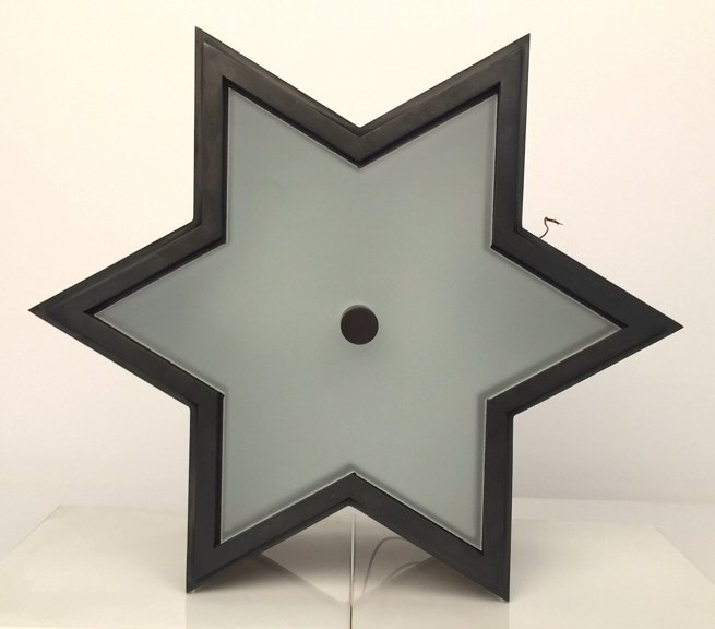 Star Shaped Sconce or Ceiling Light Fixture