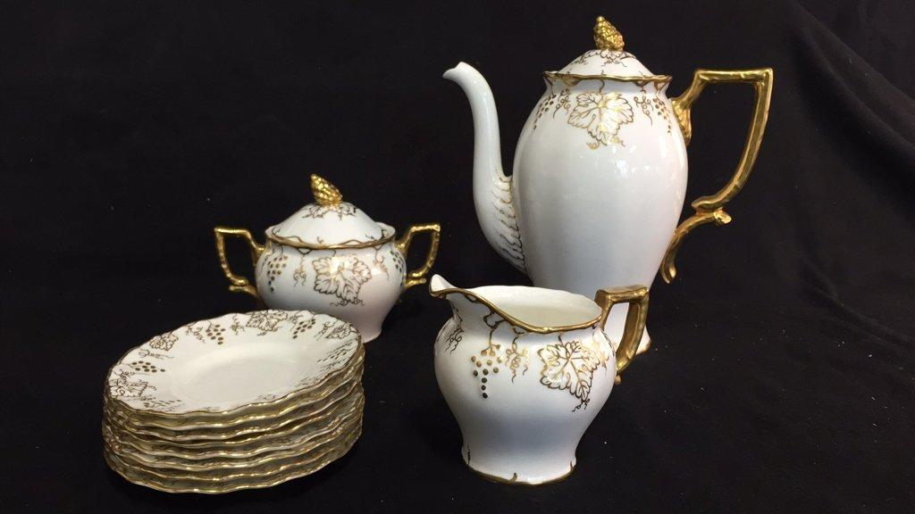 ROYAL CROWN DERBY Tea Set VINE - 8