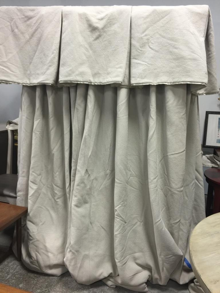 Pair Ivory Custom Window Treatments C
