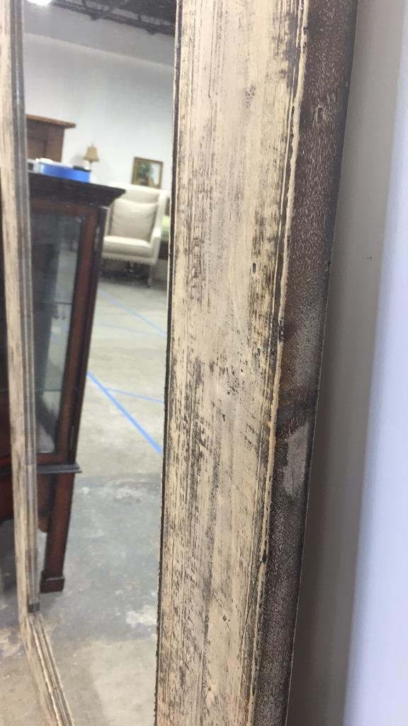 Rustic Wide Plank Mirror Distressed Finish - 4