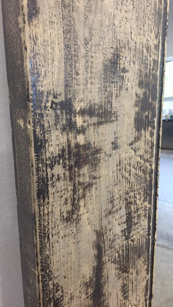 Rustic Wide Plank Mirror Distressed Finish - 7