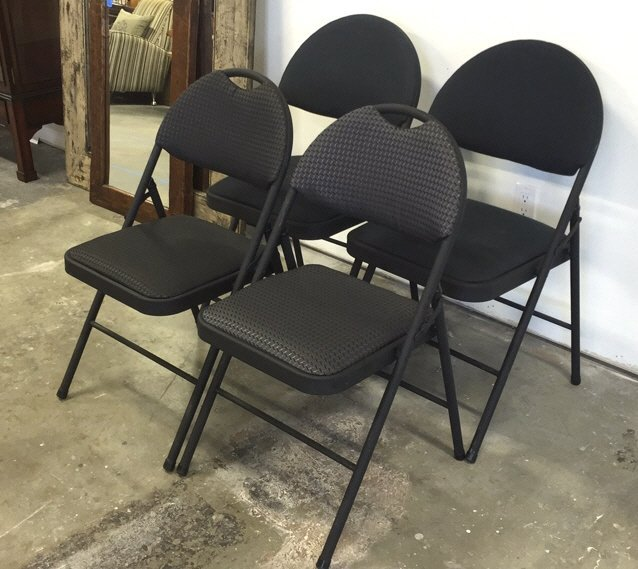 Group Lot Four COSTCO Folding Chairs