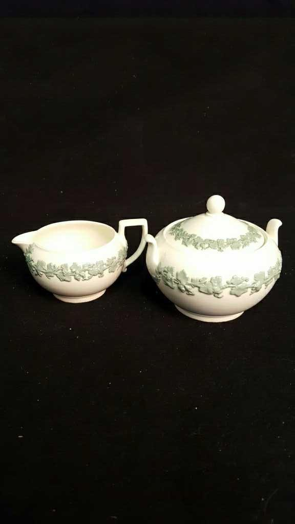 Tea Saucers and Sugar and Creamer - 5