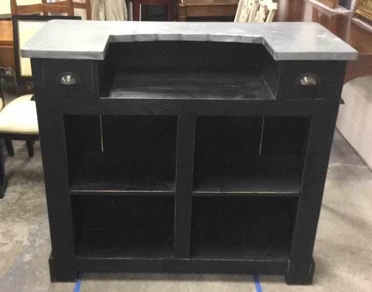 Modern Black Painted Metal Top Bar - 2
