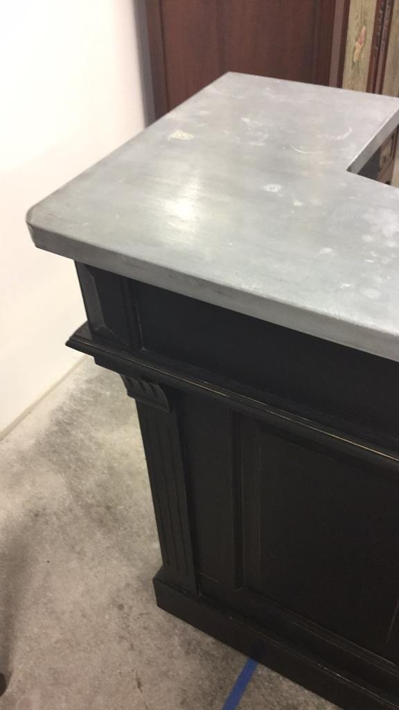 Modern Black Painted Metal Top Bar - 5